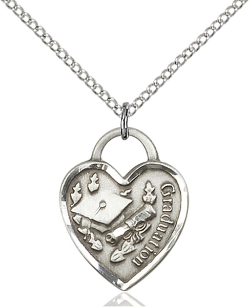Sterling Silver Graduation Heart Pendant