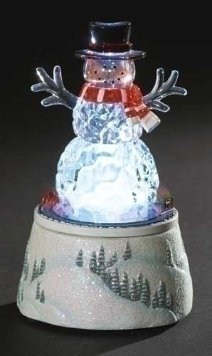 Musical 6-inch H Lighted Rotating Snowman