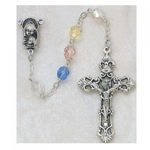 7MM Multicolor Glass Rosary