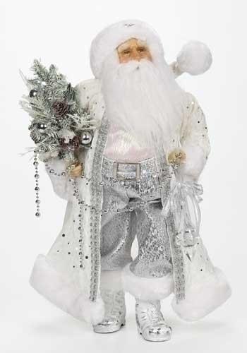 18-inch White/Silver Santa Figure