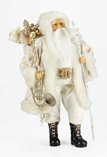 18-inch Gold Damask Santa Figure