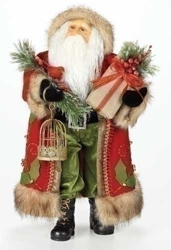 18-inch Red Santa Figure With Gift
