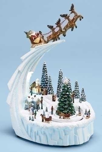 Musical 9-inch Winter Santa/Carriage