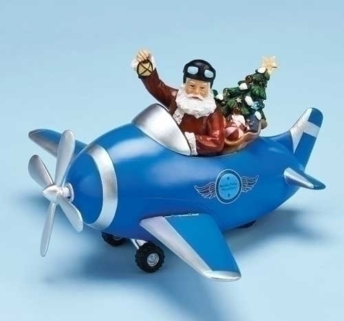 11.5-inch Plane With Santa Fig Spining