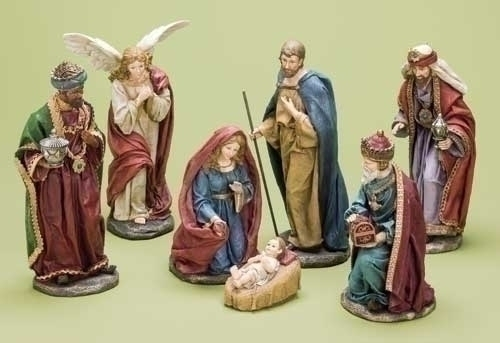 7Pc St 12-inch Nativity Fig