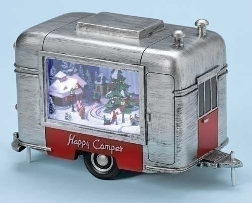 9-inch W Musical LED Christmas Trailer Fig