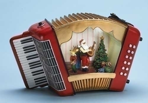 Musical 8.25-inch W Lighted Accordion Fig