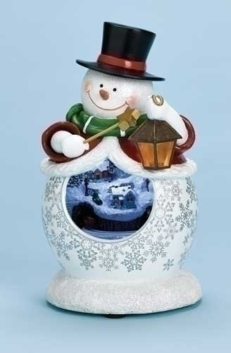 Musical 9-inch H LED Snowman Fg Mirror