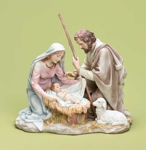 7.75-inch Pastel Holy Family Tbletp