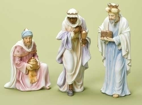 3Pc St 10-inch 3 Kings Nativity Fig