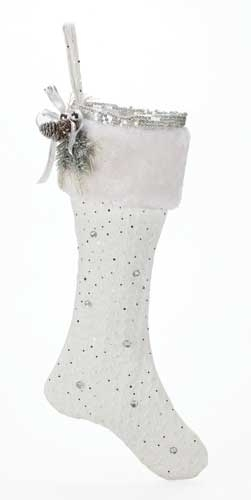 26-inch Christmas Stocking White/