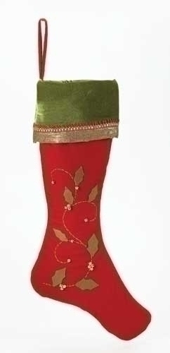 26-inch Christmas Stocking Red With