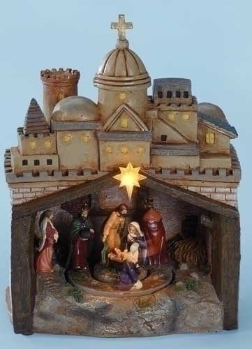 9-inch Musical LED Rotating Nativity