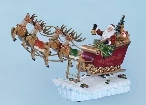 Musical 15-inch Santa Sleigh Rocking