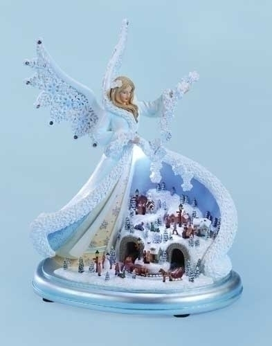 11-inch Musical LED Angel With Town Scene