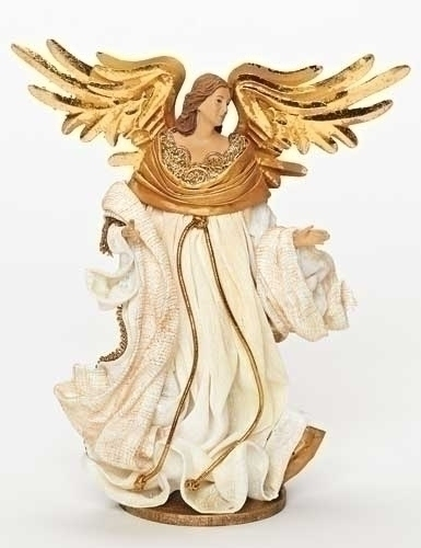 10-inch Mache Ivory Angel On Base