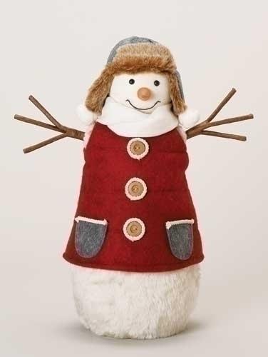 16-inch Furry Snowman Figure