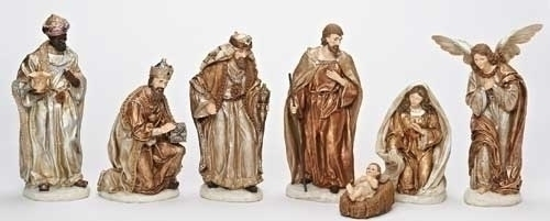 7Pc St 12-inch Nativity Figures