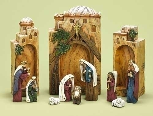 12Pc St 9.5-inch Nativity Box