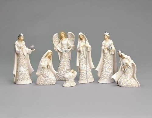 7Pc St 7.5-inch Nativity With Angel