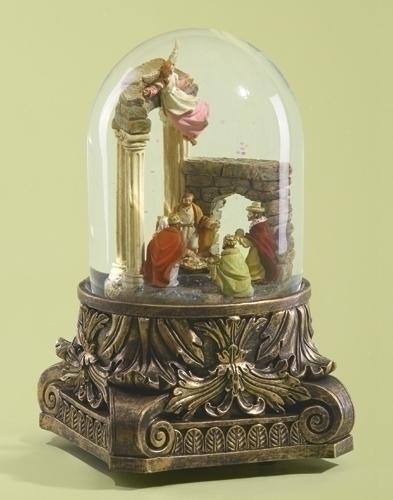 Musical 8-inch Rotate Nativity Glitter