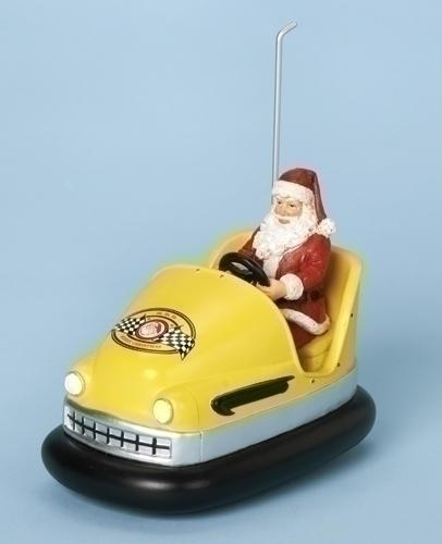 Musical 6.25-inch Bumper Car With Santa