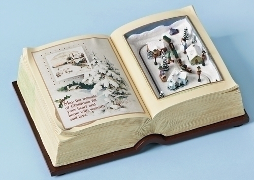 8-inch W Musical Book With Town Scene