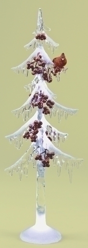18-inch H LED Icicletree With Cardinal