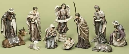 2.5-12-inch 11Pc St Nativity Color