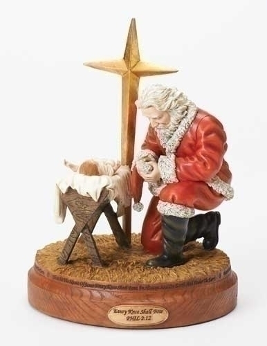 10.5-inch Bowing Santa Fig With Star