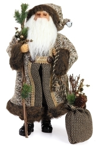 18-inch Santa Fig With Tweed Bag