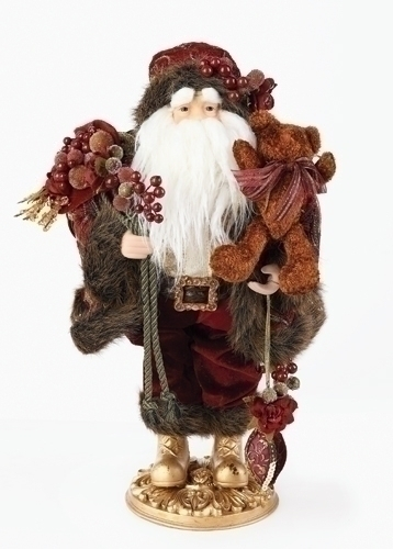 18-inch Santa Fig With Grapes/Wine