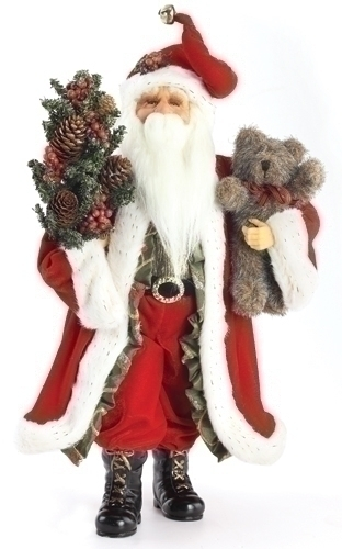 20-inch Traditional Santa With Teddy