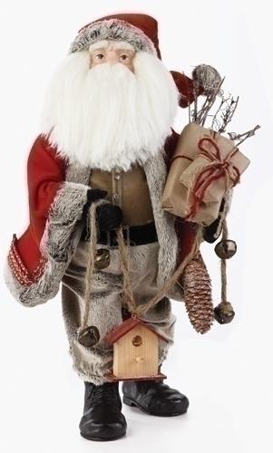 20-inch Santa With Bird House Fig
