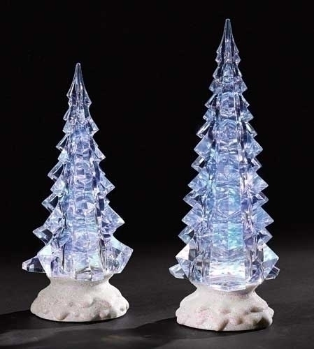2Pc St LED Confetti Tree Fig
