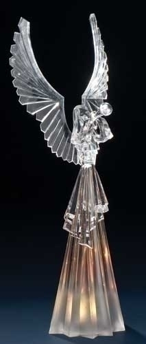 16-inch Acrylic Angel With Led Lite
