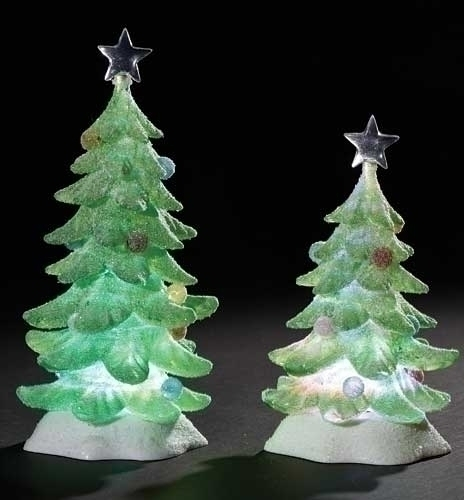 2Pc St 9.5-inch LED Tree Sugared