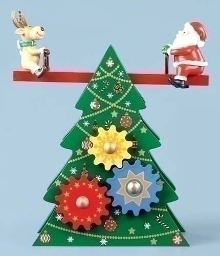 Musical 9.5-inch Christmas Tree With U Teetter