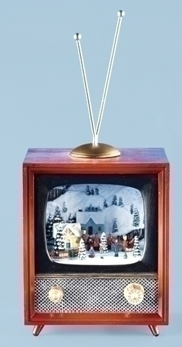 Musical 5.5-inch Tv With Rotating Train