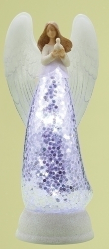 12-inch LED Angel With Dove Confetti