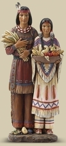 13.75-inch H Indian Couple Figure