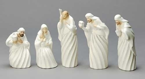 5Pc St 7-inch Nativity Fig Swirl