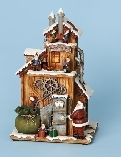 11-inch H Musical Santa'S Workshop Fig