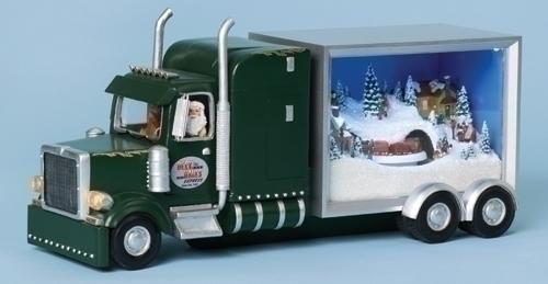Musical 12.5-inch W Truck Sleeper Santa
