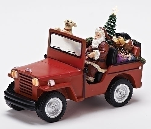 6-inch H Santa In Jeep Fig Musical