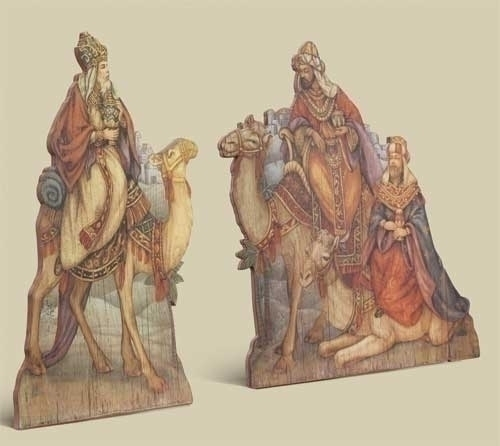 2Pc St 18-inch Nativity Kings Giclee