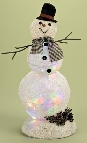 25.5-inch Lighted Snowman Figure