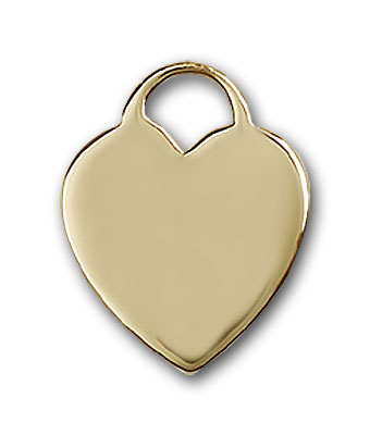 14K Gold Heart Pendant - Engravable