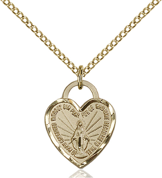 Gold-Filled Miraculous Heart Pendant