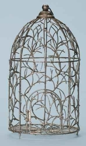 17.5-inch Wire Bird Cage Figure
